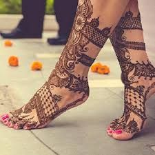 Mehndi Designs for Feet Easy