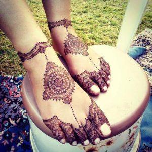Pakistani Mehndi Designs for Feet