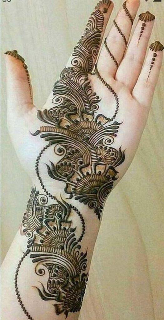 stylish new mehndi design front