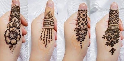 thumb mehndi design